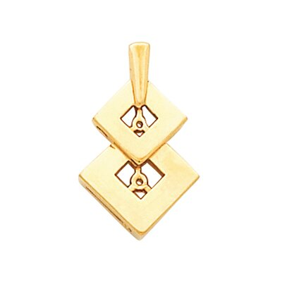 Jewelryweb 14k Yellow Gold Freeform Pendant22x14mm