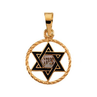 14k Yellow Gold Star Of David Pendant14x11mm