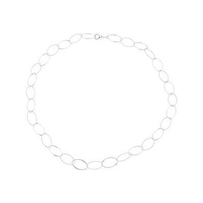 Sterling Silver Link Necklace 36 Inch
