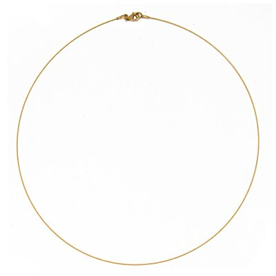 14k Yellow 0.5mm Twist Cable Wire Chain Necklace