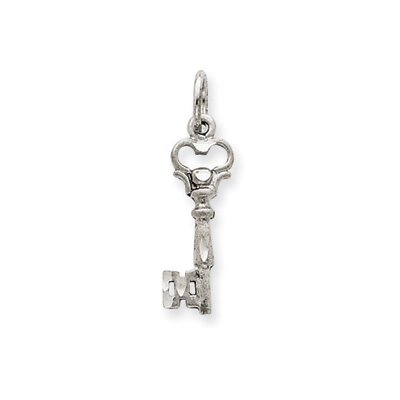 Jewelryweb 14K White Gold Polished Key Charm