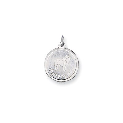 Jewelryweb Sterling Silver Schipperke Disc Charm