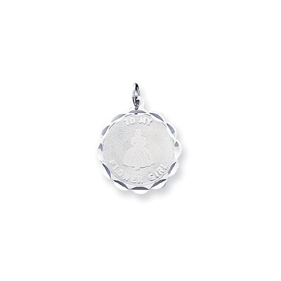 Sterling Silver To My Flower Girl Disc Charm