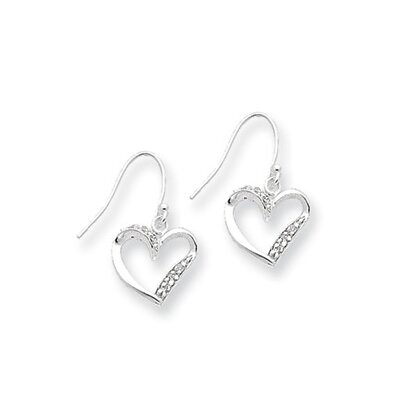 Jewelryweb Sterling Silver Fancy Heart Earrings