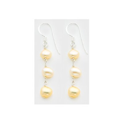 Sterling Silver Peach Cultured Pearl Earrings