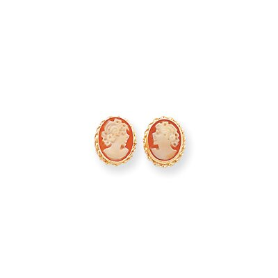Jewelryweb 14k Cameo Post Earrings