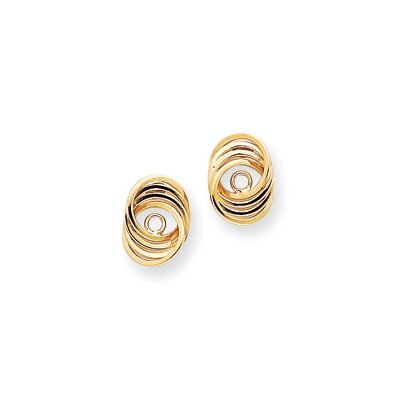 14k Polished Love Knot Earrings Jackets