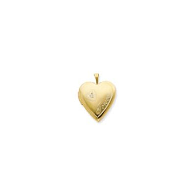 Jewelryweb 1/20 Gold Filled 20mm Diamond in Heart Forever Heart Locket