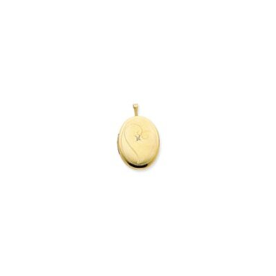 1/20 Gold Filled 20mm Diamond in Heart Oval Locket