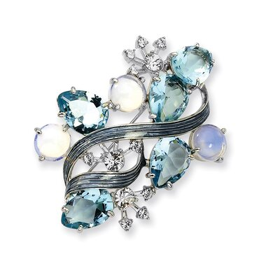 Jewelryweb Morning Mist Brooch Pin