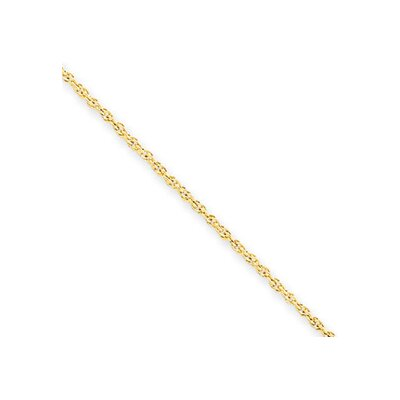 14k 1.3mm Heavy-Baby Rope Chain Necklace - Lobster Claw