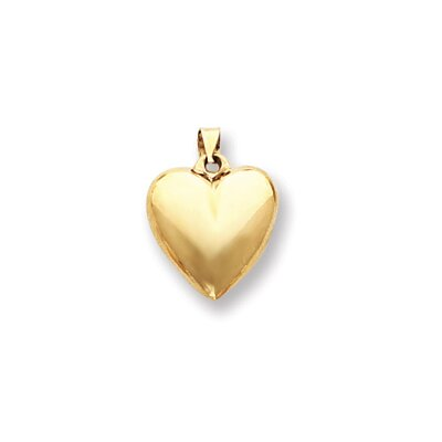 Jewelryweb 14k Puffed Heart Pendant
