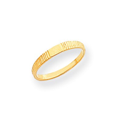 14k Polished and Ridged Baby Ring