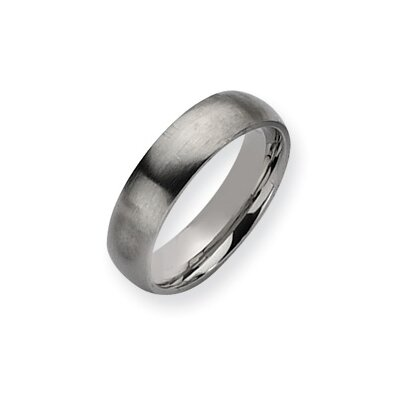 Stainless Steel Brushed Band Ring