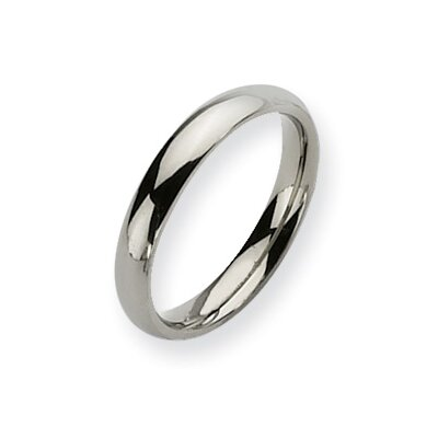 Jewelryweb Titanium Polished Comfort Fit 4mm Wedding Band Ring