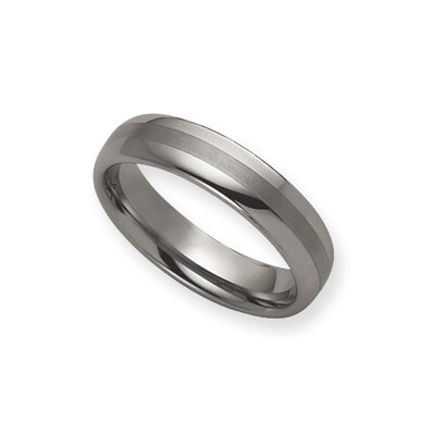 Tungsten 8mm Brushed and Polished Band Ring