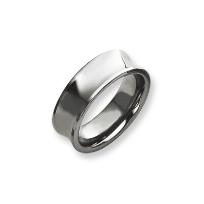 Tungsten Concave 9mm Polished Band Ring
