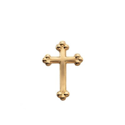 Jewelryweb 14k Yellow Gold Cross Lapel Pin