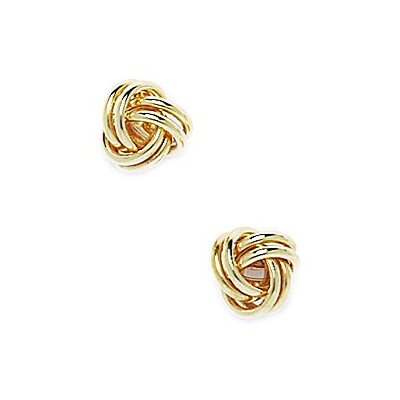 Large Love Knot Stud Earrings
