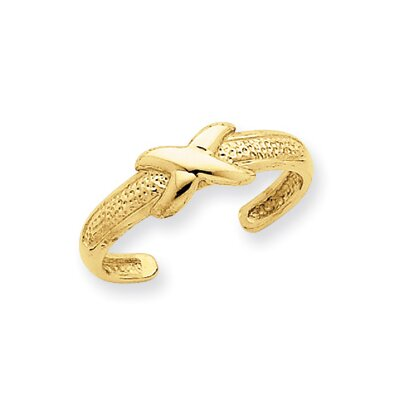 14k Yellow Gold X Toe Ring