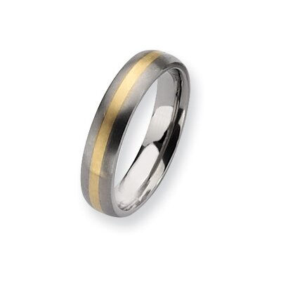 Titanium 14k Yellow Gold Band Ring