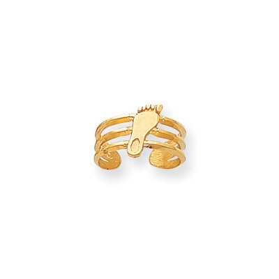 14k Yellow Gold Collegiate University of North Carolina Solid Toe Ring