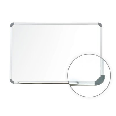 "Ghent 24"" x 36"" Aluminum Radial Edge Euro-Style Magnetic Whiteboard with 1 Marker and Eraser"