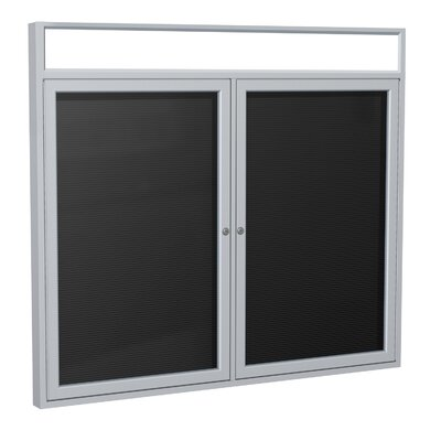 Ghent 2-Door Illuminated Headliner Enclosed Flannel Letterboard