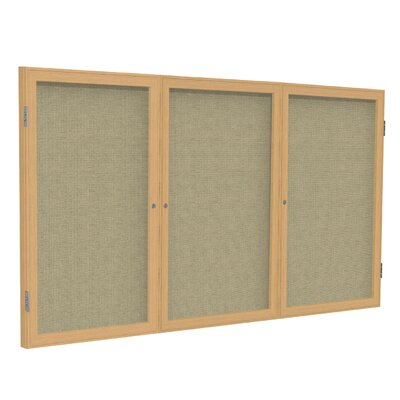 Ghent 3-Door Aluminum Frame Enclosed Fabric Tackboard