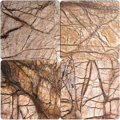 "MS International 6"" x 6"" Tumbled Marble Tile in Cafe Forest"