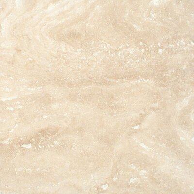 """MS International 6"""" x 6"""" Honed, Filled And Beveled Travertine Tile in Tuscany Ivory"""