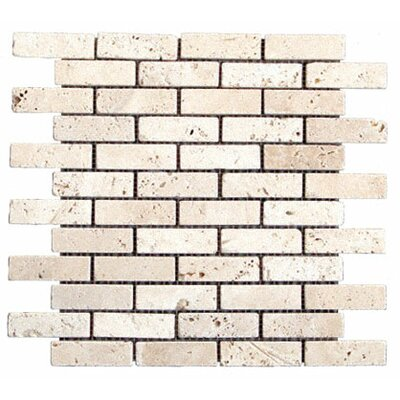 "MS International 1"" x 3"" Tumbled Travertine Mosaic in Tuscany Classic"
