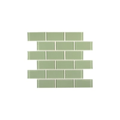"MS International 12"" x 12"" Crystallized Glass Mosaic in Mint Green"