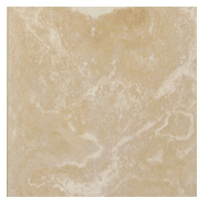MS International Unfilled, Chipped And Brushed Travertine Tile in Tuscany Beige