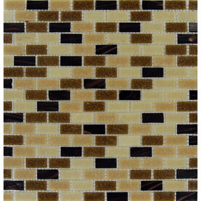 Desert Spring Glass Mesh Mounted Mosaic Tile in Multi
