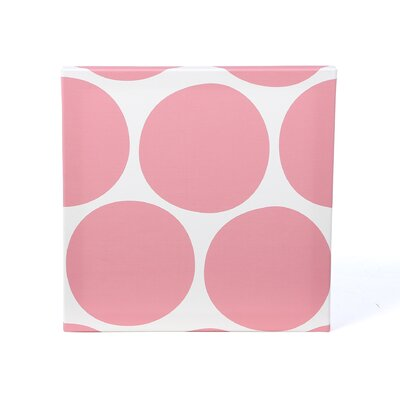 Pattern Big Dots Stretched Canvas Art