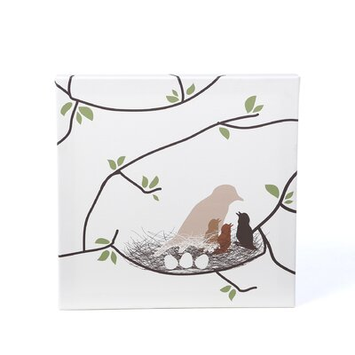 Avalisa Imaginations Bird Nest Stretched Canvas Art