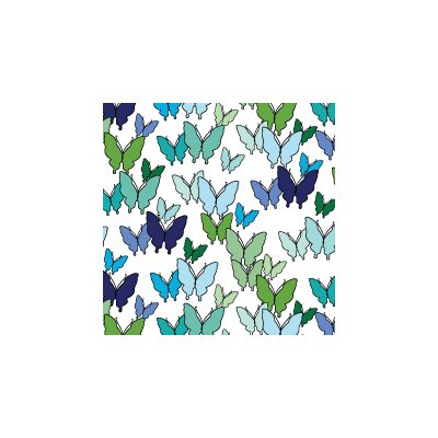 Avalisa Animals Butterfly Pattern Stretched Canvas Art