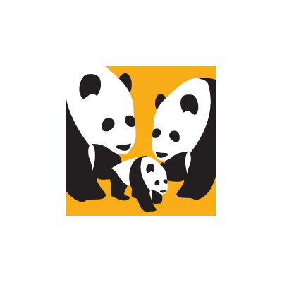 Avalisa Animal - Three Pandas Stretched Wall Art
