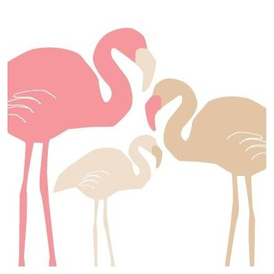 Avalisa Animals Flamingo Stretched Canvas Art