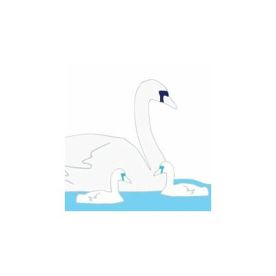 Avalisa Animals Swan Stretched Canvas Art