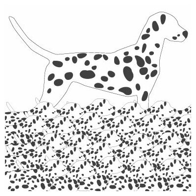 Avalisa Animal - Dalmation Pattern Stretched Wall Art