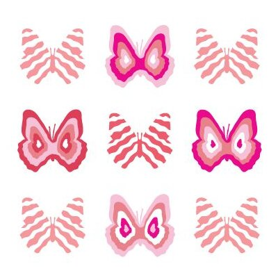 Avalisa Imagination - Butterfly Group 1 Stretched Wall Art
