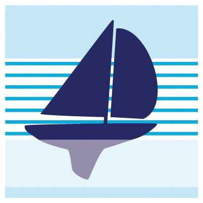 Avalisa Things That Go - Sailboat Stretched Wall Art