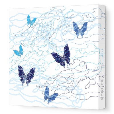 Avalisa Imaginations Butterfly Trails Stretched Canvas Art