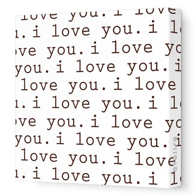 Avalisa Imagination - 'I Love You' Stretched Wall Art