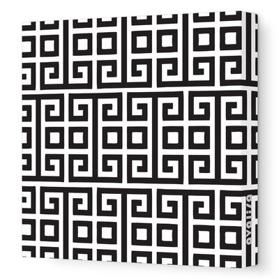 Pattern Squares Stretched Canvas Art