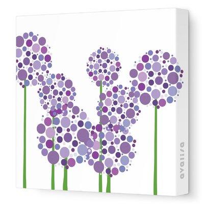 Avalisa Imaginations Allium Stretched Canvas Art