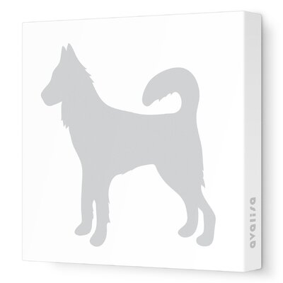 Avalisa Silhouette - Dog Stretched Wall Art