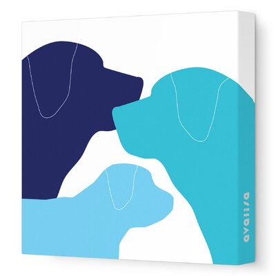 Avalisa Animals Dog Family Stretched Canvas Art